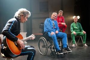 NUHR 'Draai het eens om' Viggo Waas, Peter Heerschop, Joep van Deudekom en Eddy B. Wahr. regie: Genio de Groot (foto: Joris van Bennekom)